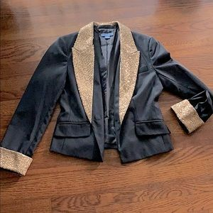 Blazer with sequins lapel and cuffs